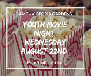 FB Youth Movie Night Wednesday August 22nd